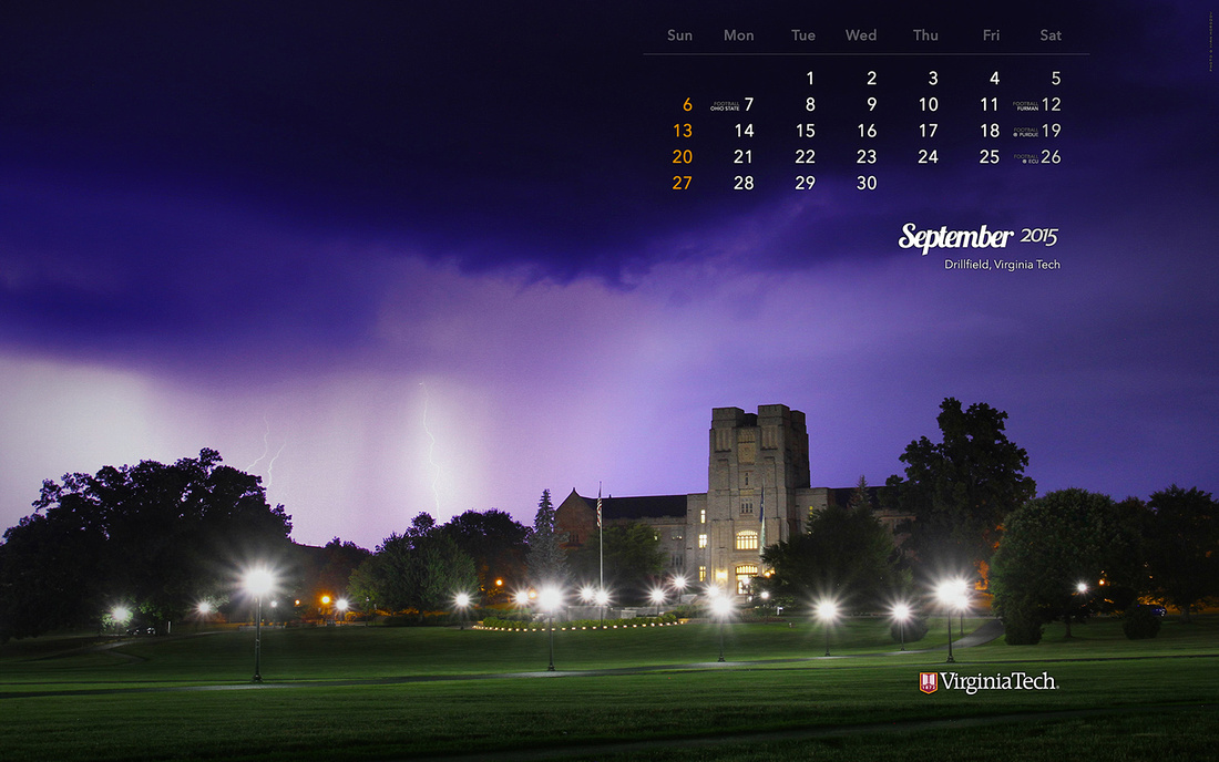 Desktop Wallpaper, September 2015. Virginia Tech.