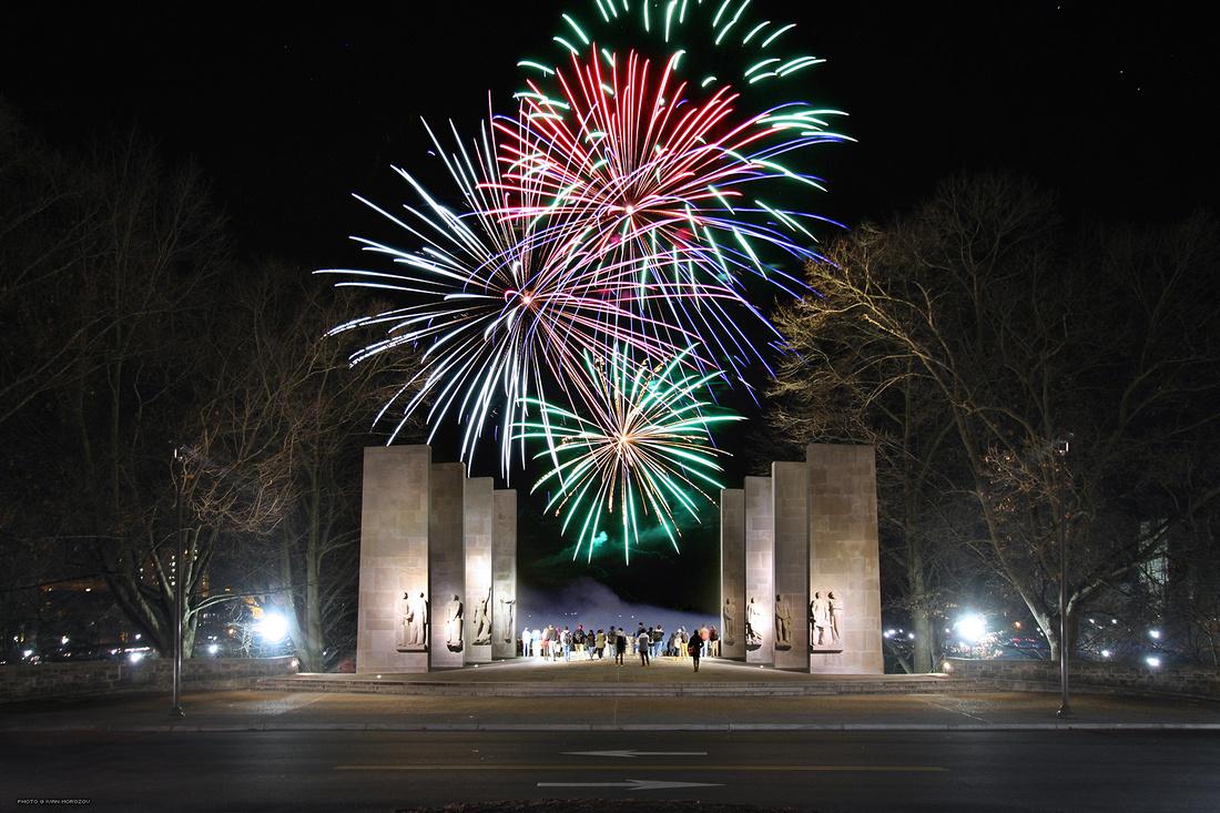 War Memorial Fireworks (Diwali, 2015).