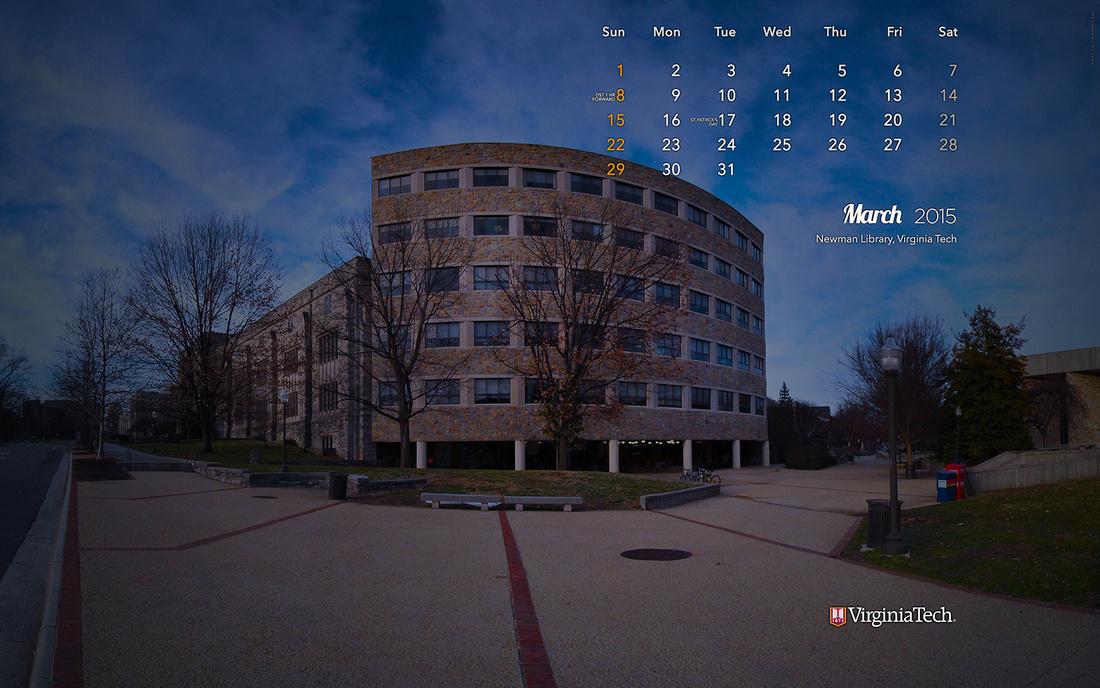Desktop Wallpaper, March 2015. Virginia Tech.