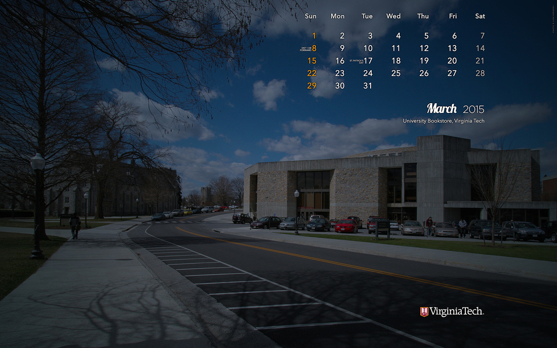 Desktop Wallpaper, February 2015. Virginia Tech.