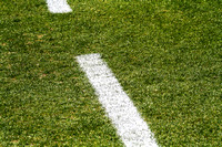 Football Field Grass with markings. Stock.