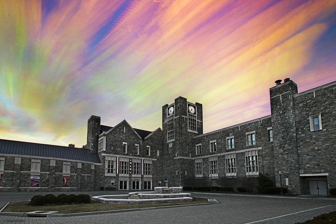 Holtzman Alumni Center, Sunset Timelapse. Virginia Tech.