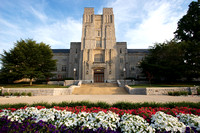 Morning at the Burruss Hall. Virginia Tech.