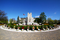Burruss Hall and April 16 Memorial, Virginia Tech