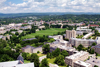 Aerial photography of Virginia Tech campus. Southwest part of campus.