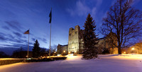 Burruss Hall in snow, Virginia Tech