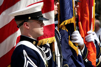 Virginia Tech Corps of Cadets Color Guard.