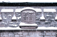 University Seal Basrelief. East Campbell Hall.