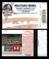 2014.12.27. Military Bowl. Game Ticket.
