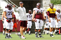 FB. Football Scrimmage at Virginia Tech.