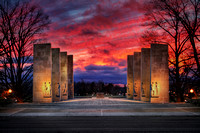 War Memorial. December Sunset.