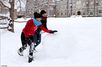 Snow on Campus. Virginia Tech.