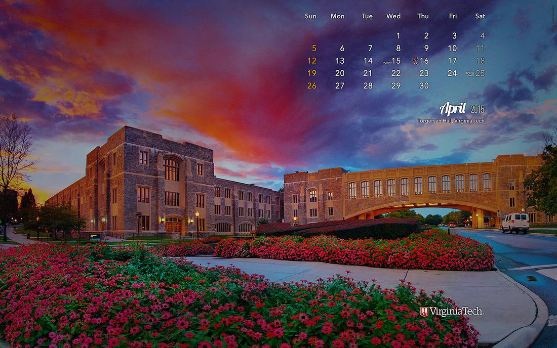 Virginia Tech Calendar.Ivan Morozov Calendar Wallpaper April 2015