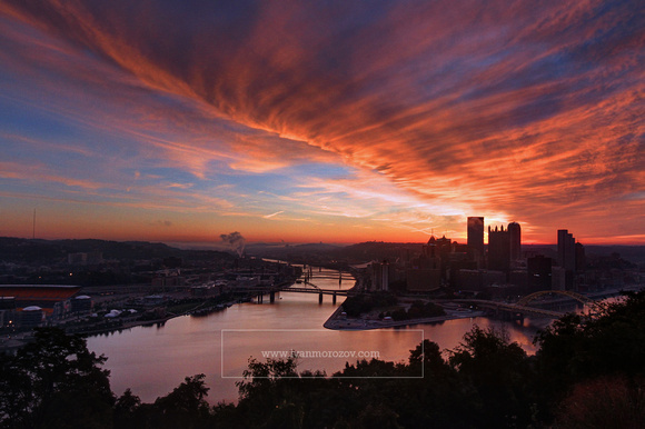ivan morozov pittsburgh from mt washington pittsburgh pa sunrise in pittsburgh pa. Black Bedroom Furniture Sets. Home Design Ideas