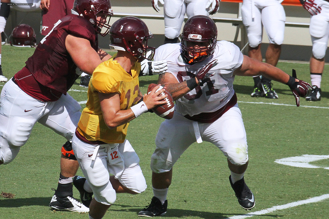 2015.08.22. VT Football Scrimmage.