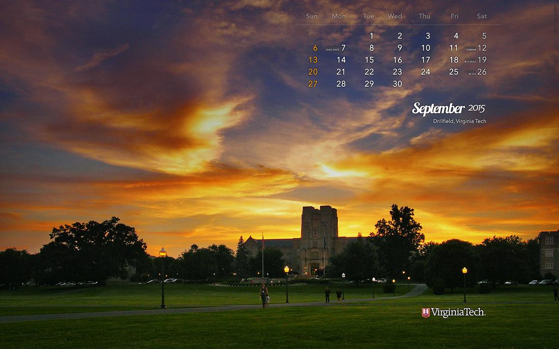 Virginia Tech Calendar.Ivan Morozov Calendar Wallpaper September 2015