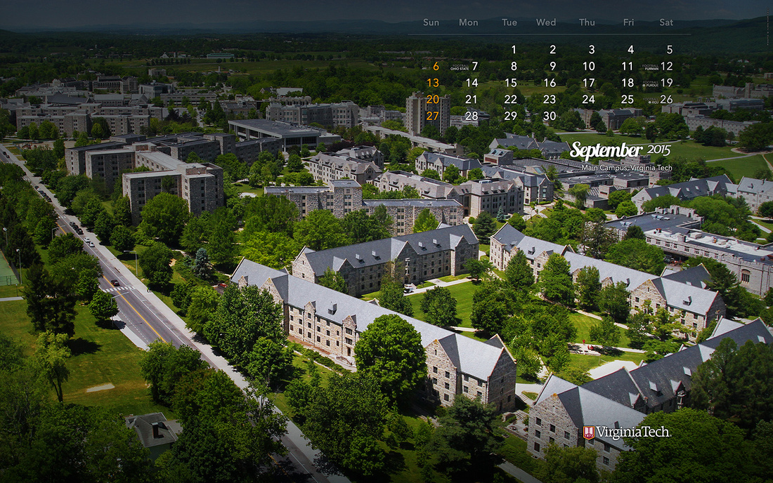 Desktop Wallpaper, September 2015. Virginia Tech.