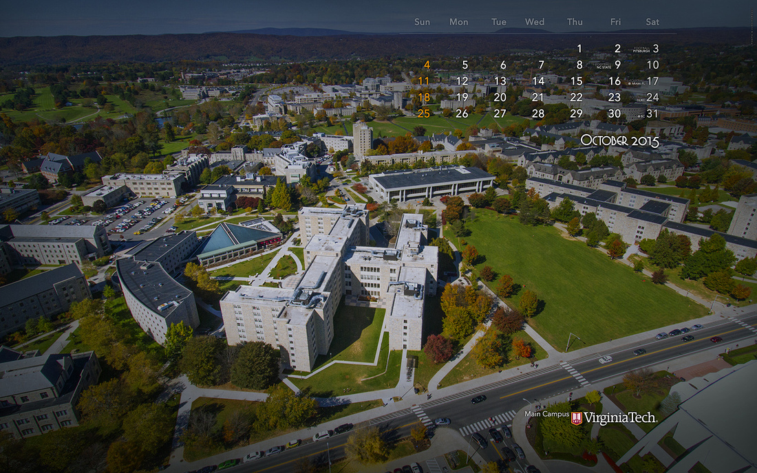 Desktop Wallpaper, October 2015. Virginia Tech.
