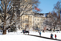 Burruss Hall in February. Virginia Tech.