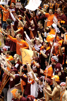 Basketball. Fans cheer during ESPN Gameday broadcast from Cassell Coliseum. Virginia Tech.