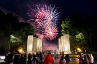 Ring Dance Fireworks at War Memorial. Virginia Tech.