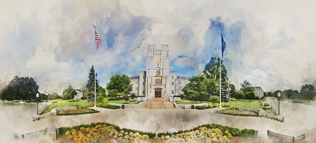 Burruss Hall. Virginia Tech.