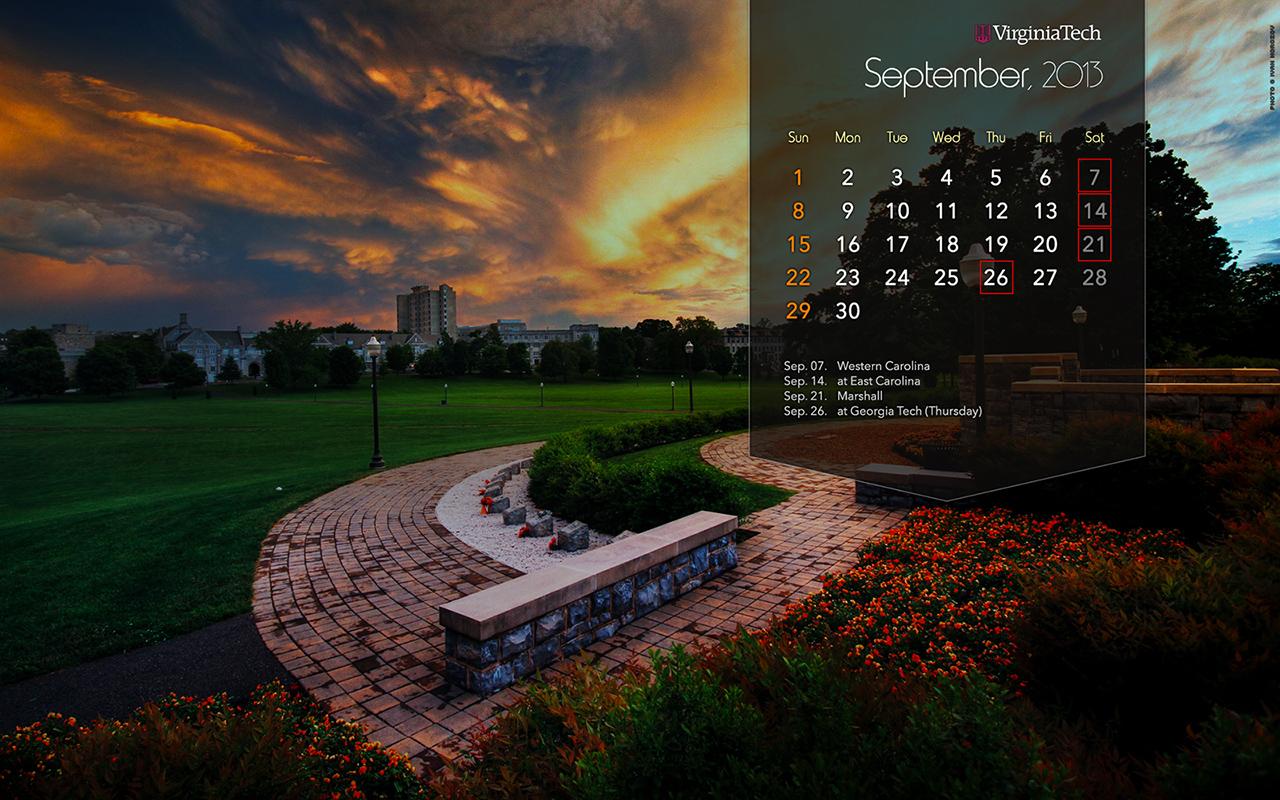 September 2013: Calendar Wallpaper: September, 2013